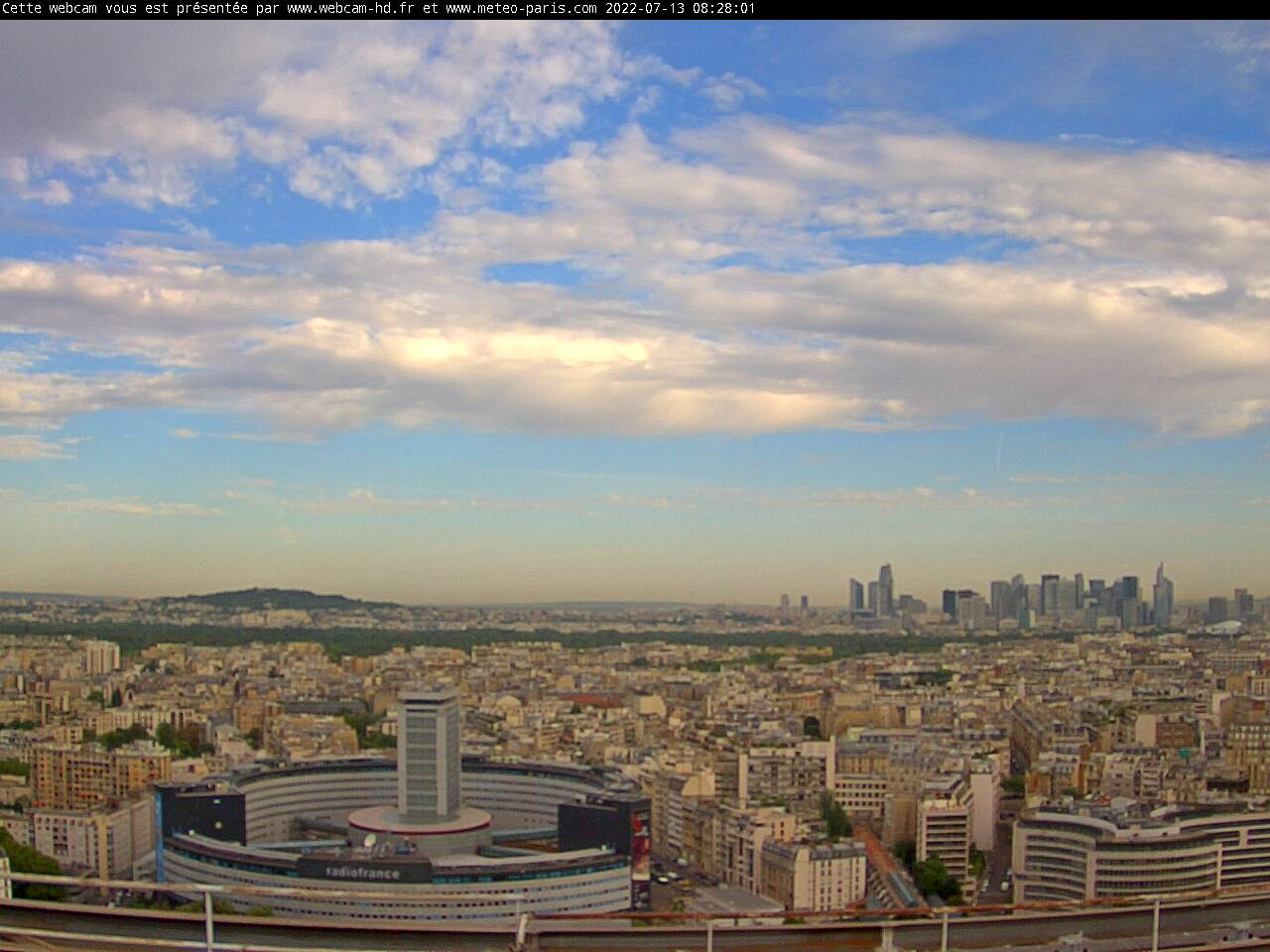 notre webcam de Paris Maison de la Radio - La Défense