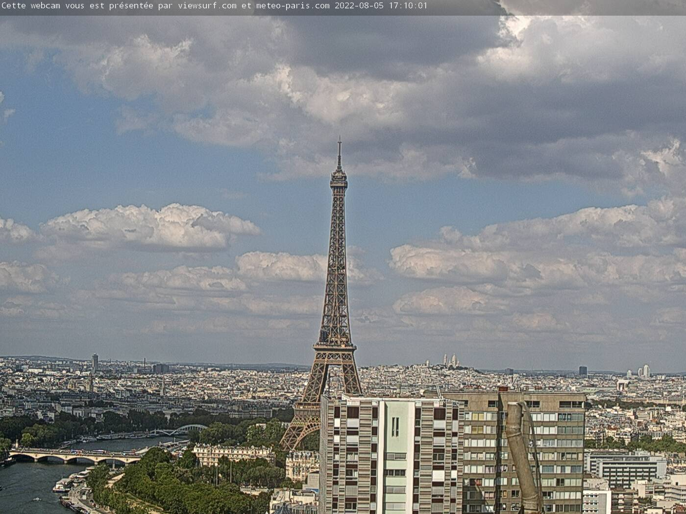 Notre webcam Paris Tour Eiffel - webcam Paris Eiffel Tower