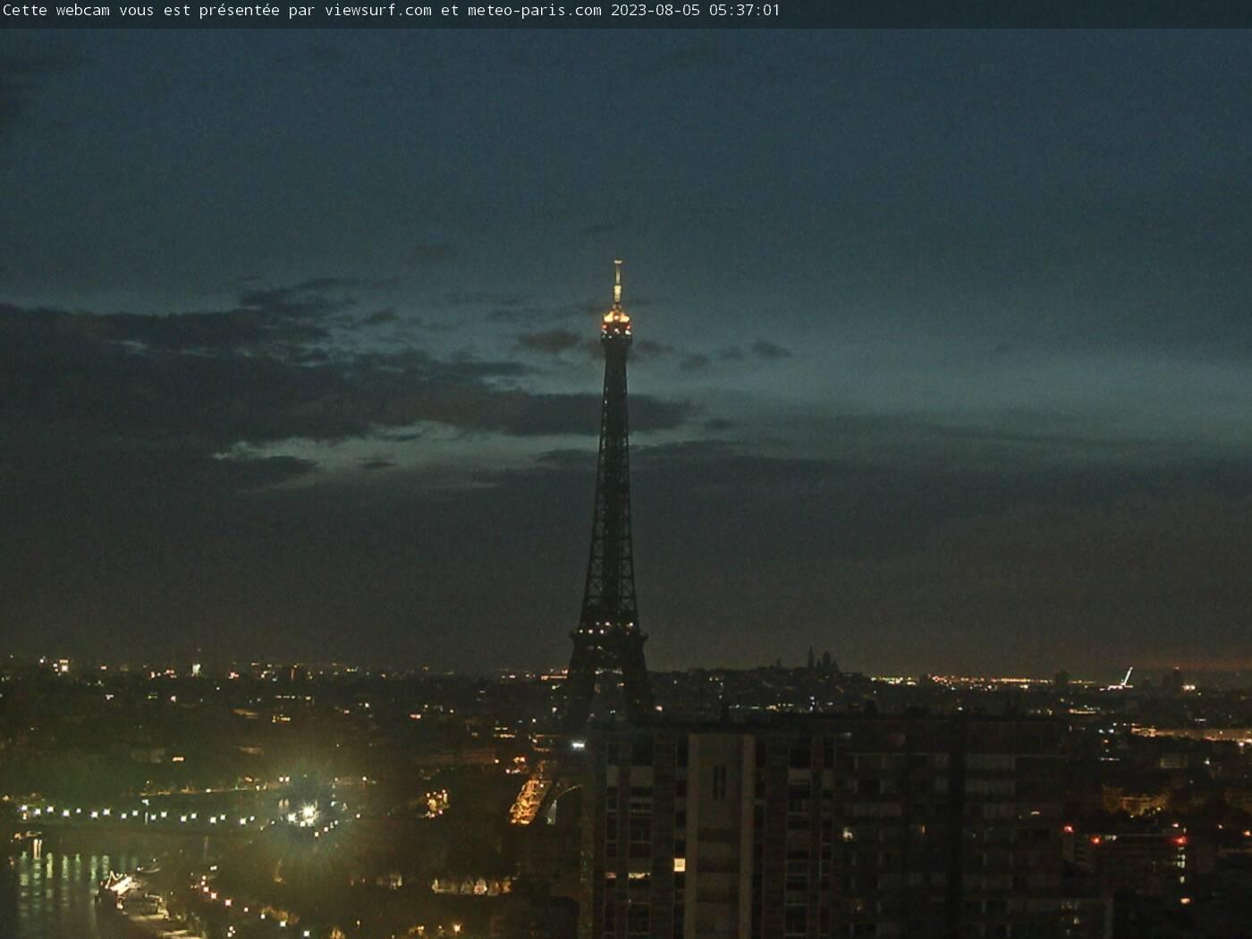 Eiffel Tower, Paris, France - Webcam Image